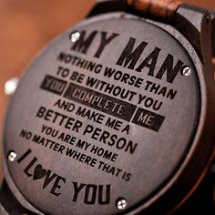 Men's Engraved Watch Great Gifts For Boyfriend, Gifts For Husband, Gifts For Him, Times New Roman, Love Gifts, Best Gifts, Unique Gifts, Watch Engraving, Wood Engraving