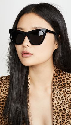 Glossy acetate Soft case Cleaning cloth included Cateye frame Non-polarized lenses Made in Italy Measurements Width: / Height: / Lens Width: Yves Saint Laurent, Sunglasses Women Designer, Catio, Womens Glasses, Blonde Highlights, Cat Eye Sunglasses, Nice Sunglasses, Sunglasses Accessories, Fashion Accessories