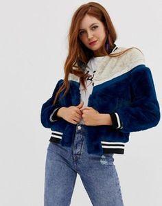 Vero Moda faux fur bomber jacket