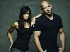 Michelle Rodriguez, Vin Diesel, Letty Fast And Furious, The Furious, Paul Walker, Dwayne Johnson, Dom And Letty, Dominic Toretto, Beau Film