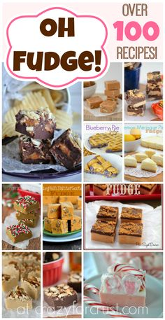 Three delicious and easy fudge recipes for the holidays. No candy thermometer needed to make Cookies & Cream, Candy Cane and Vanilla Bean Caramel Fudge. Fudge Recipes, Candy Recipes, Sweet Recipes, Holiday Recipes, Dessert Recipes, Yummy Treats, Delicious Desserts, Sweet Treats, Cupcakes