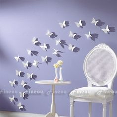 3D DIY Wall Sticker Stickers Butterfly Home Decor Room Decorations and paint colour