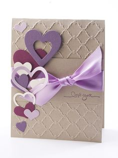 luv the quatrefoil grill background...plethora of die cut hearts...