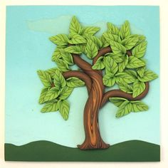 Fairy Houses Polymer clay | Summer Fairy Tree Wall Hanging Polymer Clay Home Décor AC030