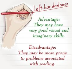 Disadvantages of being left handed
