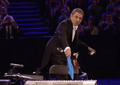 Rowan Atkinson as Mr. Bean during the Opening Ceremony