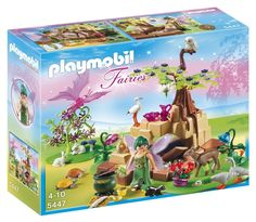 Amazon.com: PLAYMOBIL Healing Fairy Elixia in Animal Forest Playset: Toys &…