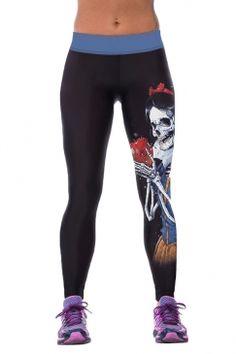 #Tight #Skeleton #Printed #Sport #Leggings Black