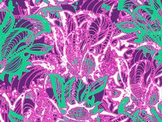 The Bartl Studio. Abstract print inspired in nature. Bold colors as fuchsia or mint green are good companions.
