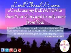 ~ Romans 8:17 NCV  #LordThree65 LordThree65.com | Order your 2014 Lord Use Me Weekly Pocket Planner at LordThree65.com today! Like us on Facebook: LordThree65 | Follow us on Twitter: @Lord Three65 | Follow us on Instagram: LordThree65 | Follow us on Google+: LordThree65 | Follow us on LinkedIn