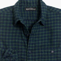 78c144e65 Tall slim-fit heather flannel shirt in small buffalo check : Men tall