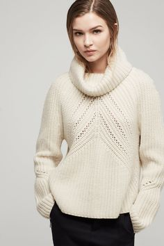 Cece Funnel Neck Pullover | rag & bone