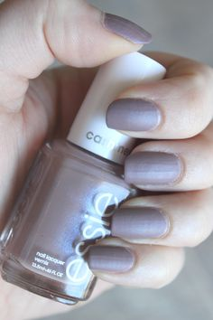 """Essie Comfy In Cashmere (2015 Cashmere Matte Collectio) I have to be really tanned to make this work or else it just makes my nails look """"dirty""""."""