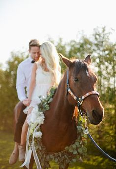 pretty pose for a country couple I would do this for a beach wedding! And have the breach in the background. Or be running on the horse
