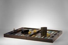 Commissioned backgammon set, 2013, with Lagomorph Design