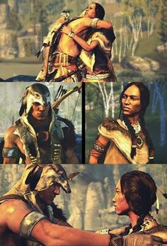 Connor and his mother Ziio.. Assassin's Creed 3