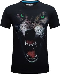 Guan Yu Tops & Tees 2019 New 3d Short Sleeved T-shirt Explosion Stereo T-shirt Xl Has A Domineering Personality