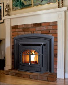 Wood pellet stove inserts and wood pellets boiler guide Pellet Stove Fireplace Insert, Pellet Stove Inserts, Wood Pellet Stoves, Open Fireplace, Fireplace Inserts, Fireplace Mantels, Wood Pellets, Heating Systems, House