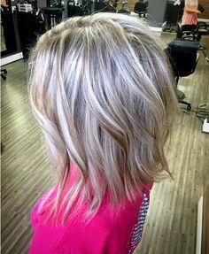 Ash blonde lob
