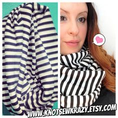Black and White Infinity Scarf  www.KnotSewKrazy.etsy.com www.facebook.com/KnotSewKrazy