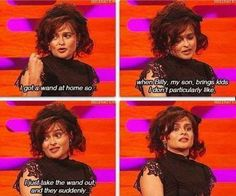 When Helena Bonham Carter used her Bellatrix scariness IRL.