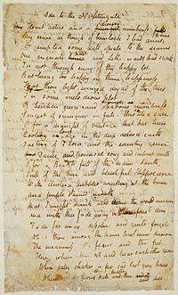Ode to the Nightingale,1819.  John Keats (1795-1821).