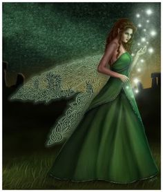 Celtic winged faerie / green Fairy More Fairy Dust, Fairy Land, Fairy Tales, Magic Fairy, Fantasy World, Fantasy Art, Fantasy Fairies, Fantasy Wizard, Fantasy Fiction