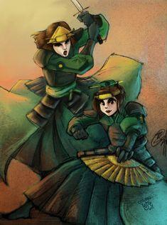 .:Collab Kyoshi Warriors:. by LeslieLamadrid.deviantart.com on @deviantART
