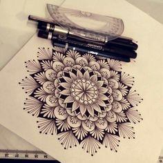 Mandala design for a tattoo