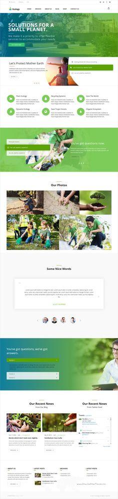 Ecology is a wonderful responsive #WordPress theme for #environment, #ecology, non-profit, biological, eco friendly organizations websites download now➩ https://themeforest.net/item/environment-ecology-nonprofit/16936344?ref=Datasata