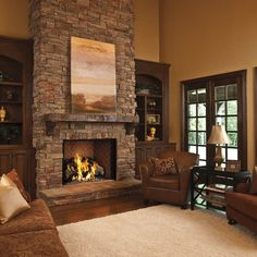 6 Refined Tips: Contemporary Fireplace Tall fireplace built ins bedroom.Fireplace Screen Crate And Barrel fireplace built ins bedroom.Fireplace With Tv Above Hide Wires. Built In Around Fireplace, Tall Fireplace, Fireplace Built Ins, Rustic Fireplaces, Home Fireplace, Fireplace Remodel, Living Room With Fireplace, Fireplace Design, Home Living Room