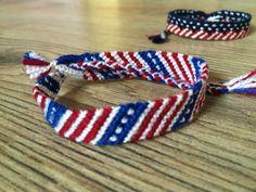 Friendship bracelet-4th of July bracelet- USA flag bracelet-Wrap bracelet-Flag bracelet-American bracelet