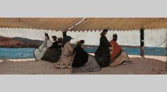 La rotonda dei bagni Palmieri (Giovanni Fattori, 1866, Galleria d'Arte Moderna di Palazzo Pitti, Firenze)