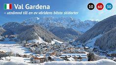 Val Gardena skidåkning vackert
