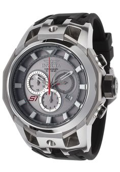 Invicta 16811 Watches,Men's S1 Rally Chronograph Black Silicone Titanium-Tone Dial, Sport Invicta Quartz Watches