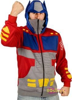 Optimus Prime Costume Hoodie xD