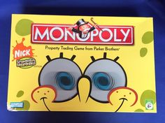 Spongebob Squarepats Monopoly Game Complete Parker Brothers Nickelodeon Edition #Monopoly