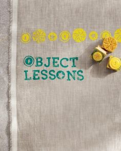 Block printing with every day objects - including buttons - from Martha - she has the best people, what can I say.  I love the button idea - so many lovely designs on buttons.  Buy a button grab-bag at a thrift store, and there you go.  Instructions include tips on fabric dyes/paints.  http://www.marthastewart.com/906821/block-printing/@center/276982/craft-tools-and-projects#