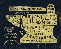 Clothing poster, trade show