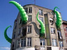 Filthy Luker | http://filthyluker.org | UK | http://filthyluker.org/contact/ #installation #streetart #inflatable #giant #uk #bonnaroo #outsidelands
