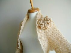 Crocheted shawl would be gorgeous for a winter wedding.