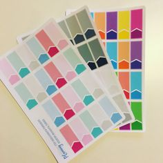 Planner Stickers - Appointment Box Labels Colour Block, Rainbow, Pastel Bright, Muted. Planner Stickers, ECLP, Erin Condren, Happy Planner.  A handy sheet of 2 tone Colour Block Appointment Stickers each sheet contains 22 Stickers & comes in either Muted, Rainbow or Pastel Bright.  Each Sticker measures 1.5 Wide.