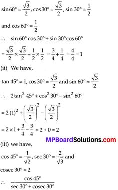 MP Board Class Maths Solutions Chapter 8 Introduction to Trigonometry Ex – MP Board Solutions Maths Solutions, Math Books, Math Art, Trigonometry, Boards, Planks