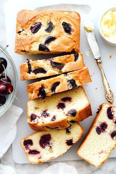 Cherry and Almond Quick Bread