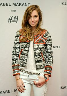 Chiara Ferragni - H&M Isabel Marant VIP Pre-Shopping Event...love her hair color and cut.