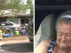 Oude dame leeft in wagen naast haar huis, dan beseffen de buren waarom ze weigert naar binnen te gaan