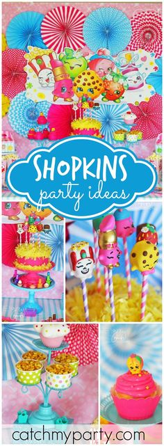 Wow! Loving this colorful Shopkins birthday party! See more party ideas at CatchMyParty.com!