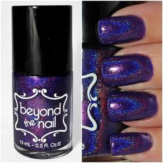 Holographic Purple Jelly Nail Polish