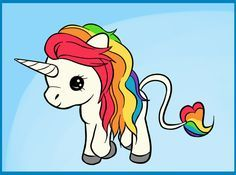 Illustrated Rainbow Unicorn by *syppah on deviantART