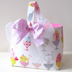 Fabric easter basket pdf sewing patterntutorial three easter basket ready to ship on etsy 1800 negle Choice Image
